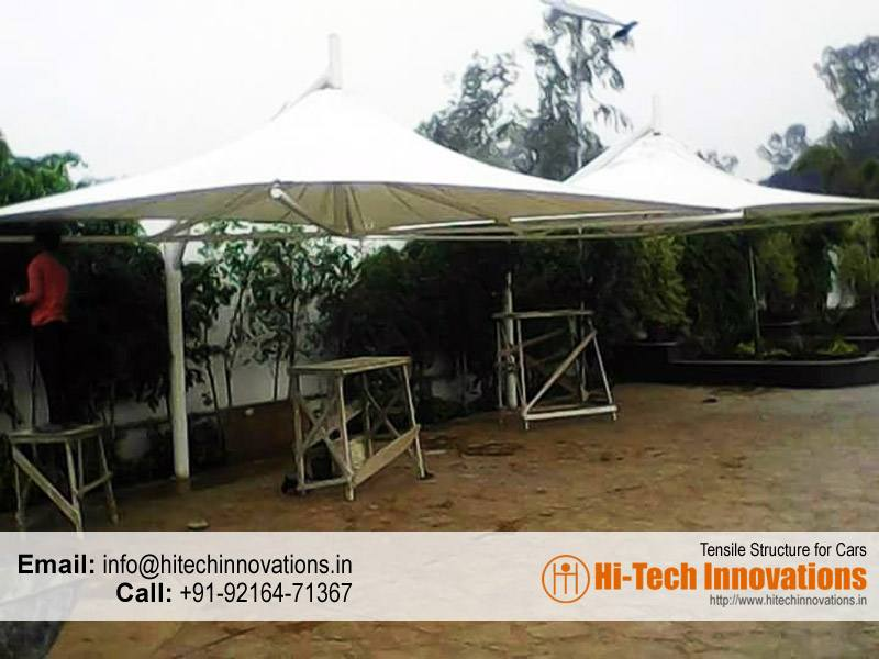 Single Pole Tensile Structure for Cars