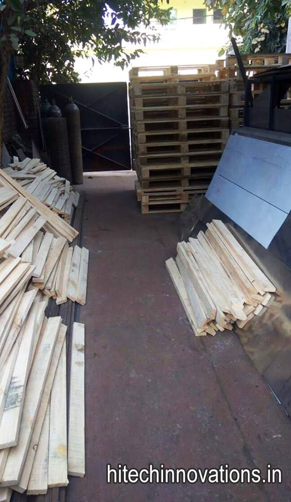 Wooden Pallets at our Factory in Mohali