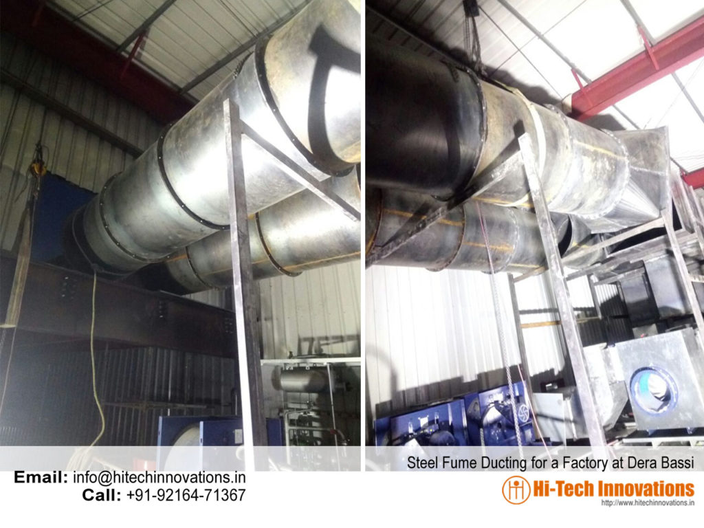 Steel Fume Ducting for a Factory in Dera Bassi - Punjab