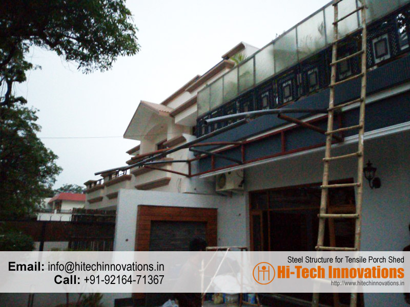 Steel Structure for Porch Sheds , Chandigarh, Mohali, Panchkula