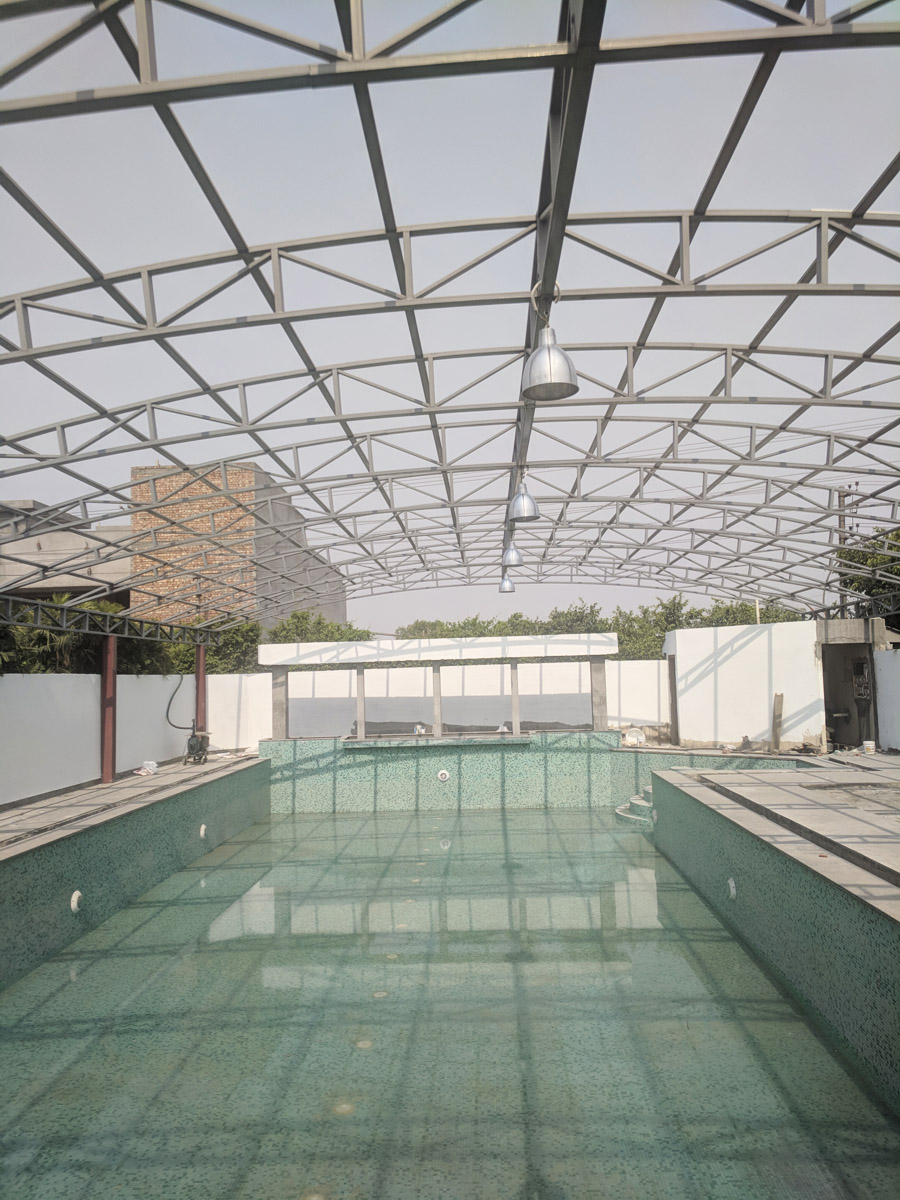 Swimming Pool Shed - Steel Structures