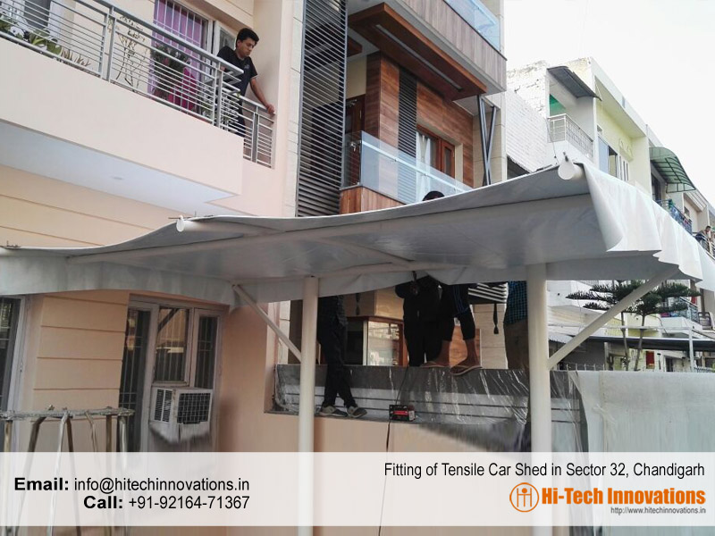 Tensile Car Shed in Sector 32 Chandigarh