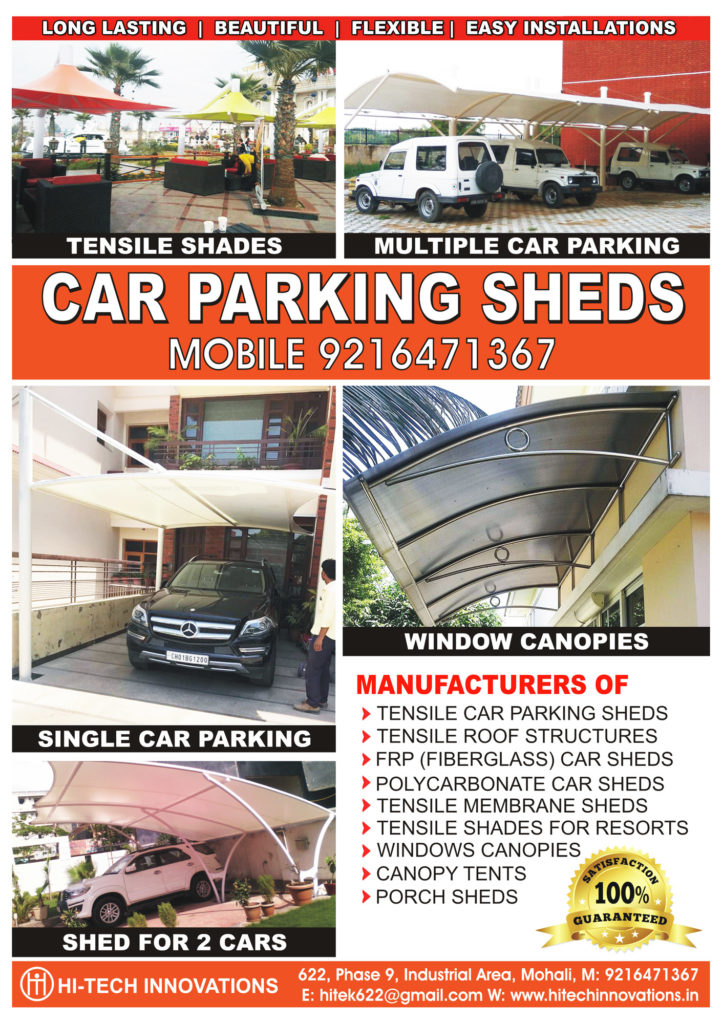 Car Parking Sheds | Tensile Sheds | Steel Structures in Ludhiana | Jalandhar | Chandigarh | Amritsar