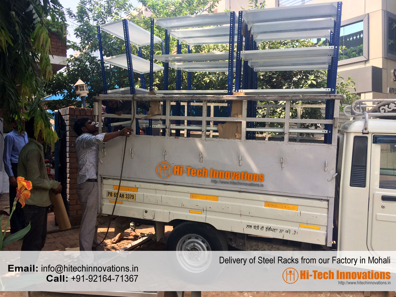 Delivery of Steel Racks from our Factory