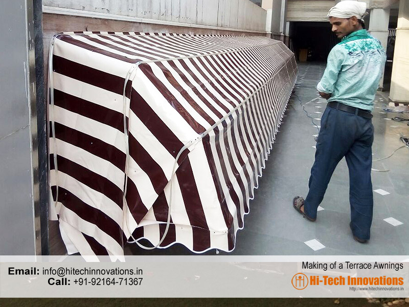 Manufacturing Terrace Awning