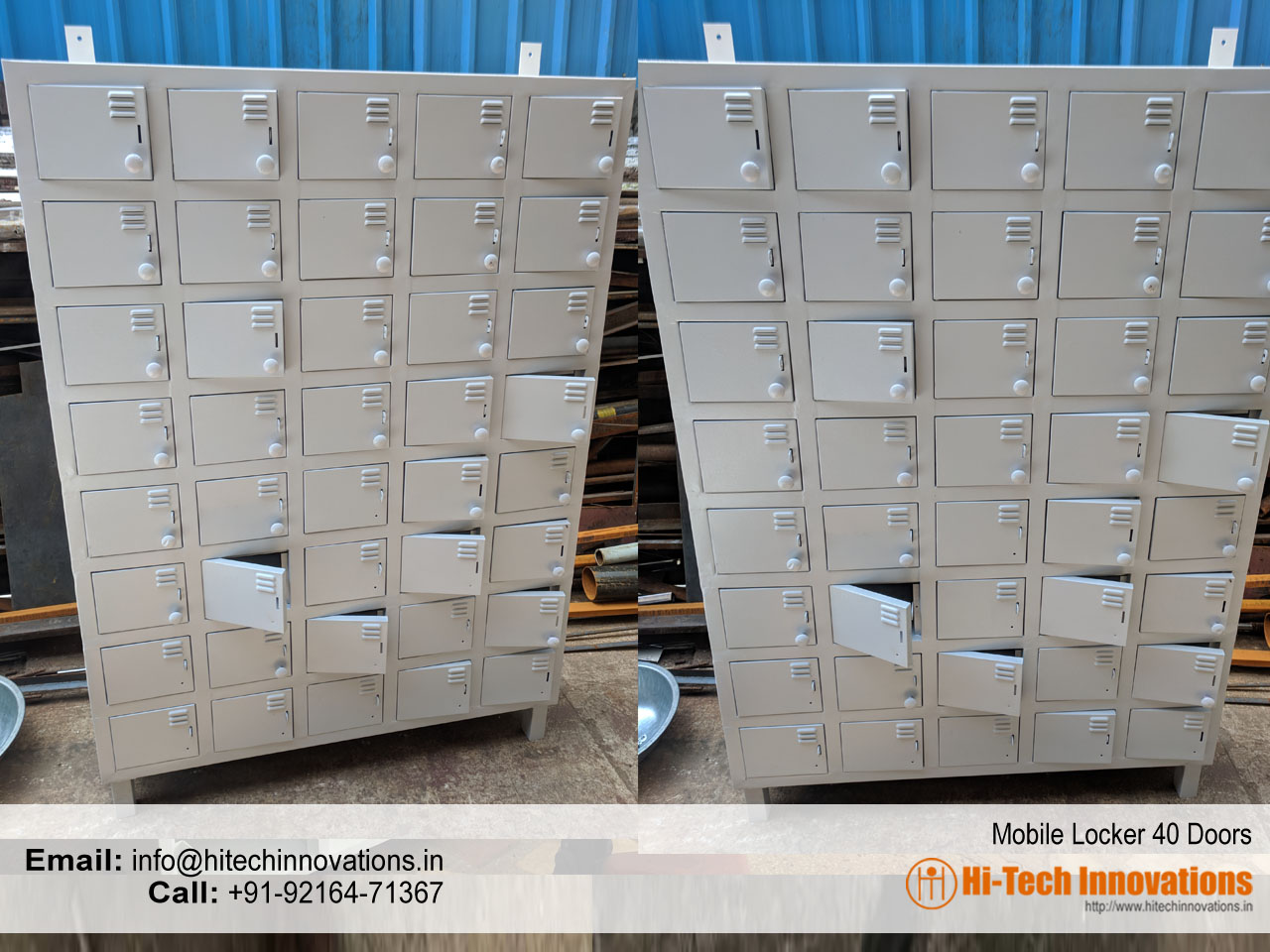 Steel Racks Mobile Storage Locker Manufacturers In India