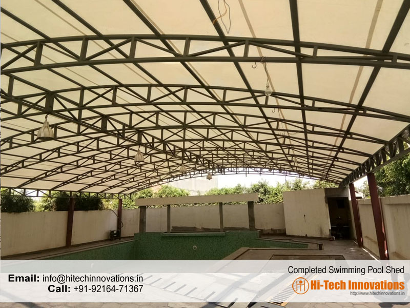 Swimming Pool Shed - Steel Structure
