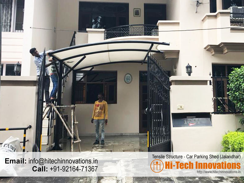 Tensile Structure Car Parking Shed in Jalandhar