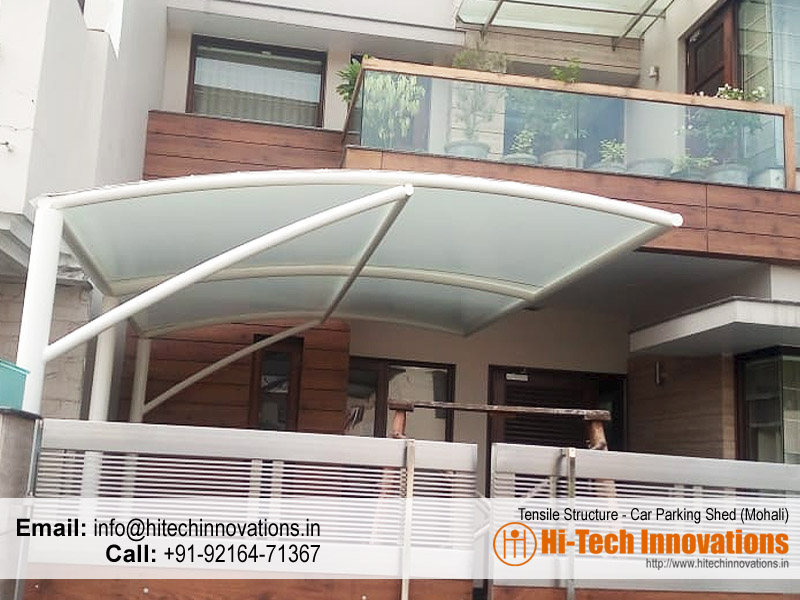 Tensile Structure Car Parking Shed in Mohali