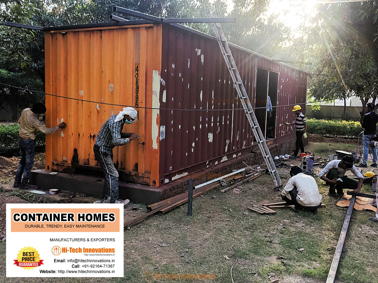 Making of Container Home