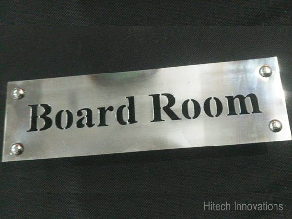 Laser Cut Steel Name Plate for Board Room