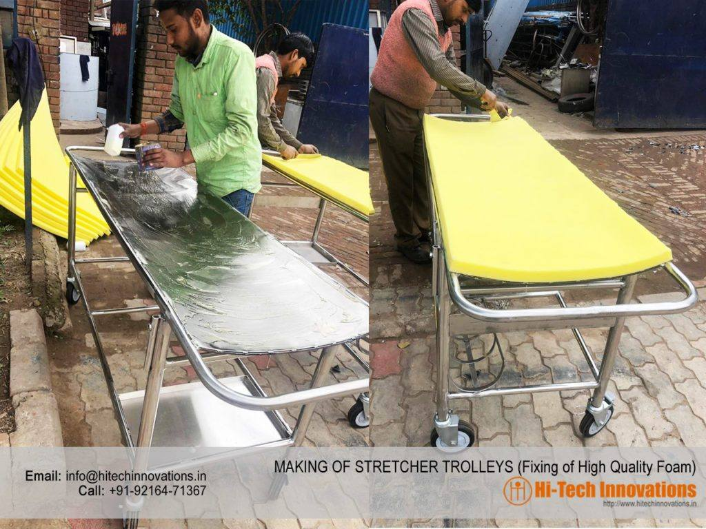 Stretcher Trolley - Fixing of Foam