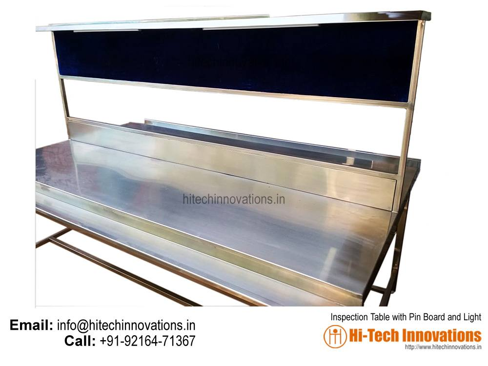Inspection Table with Pin Board and Light