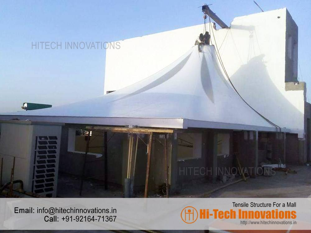 Tensile Gazebo Manufactured for a Mall