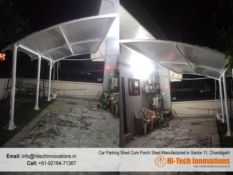 Car Parking Shed Cum Porch Shed Manufactured in Sector 11, Chandigarh
