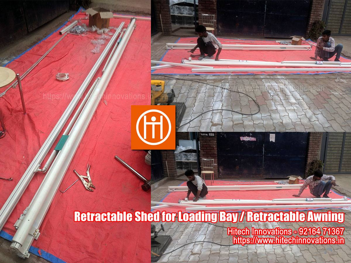 Retractable Shed for Loading Bay / Retractable Awning