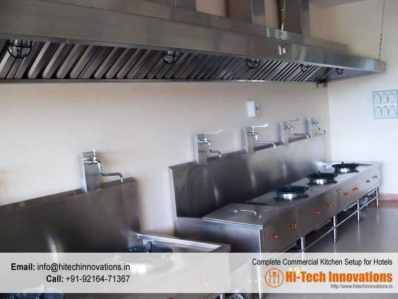 Complete Commercial Kitchen Setup for Hotels