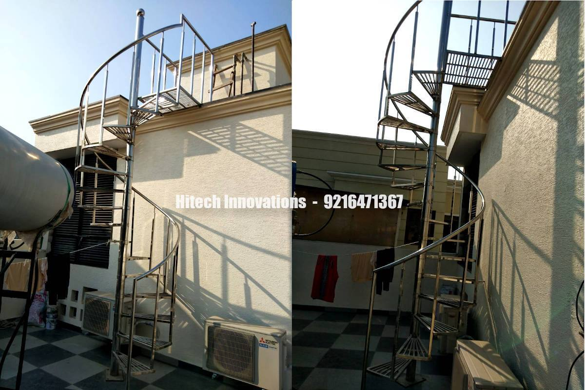 Spiral Staircase Steel Railing