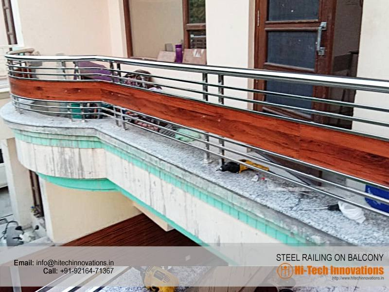 New Designer Steel Railing on Balcony Chandigarh