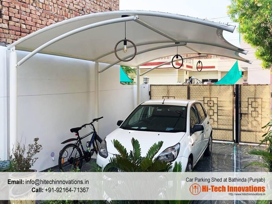 Tensile Car Parking Shed - Bathinda