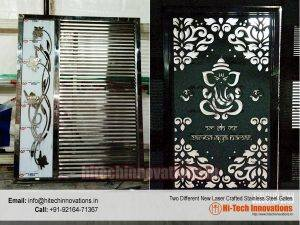 Two Laser Crafted Stainless Steel Gates