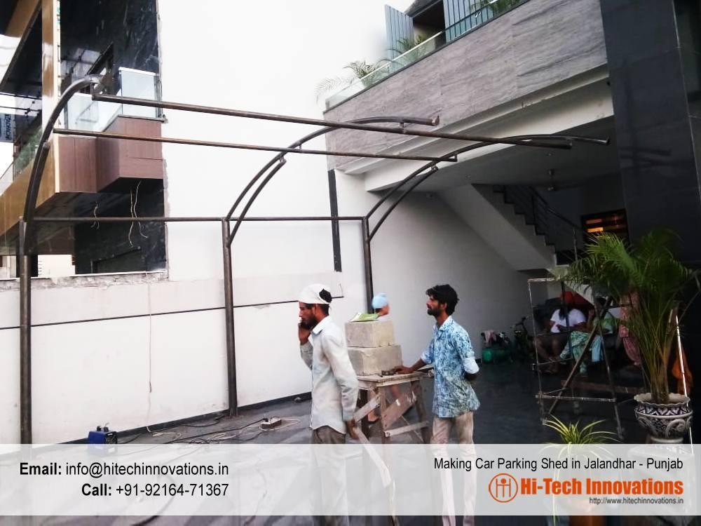 Making of Car Parking Shed in Jalandhar