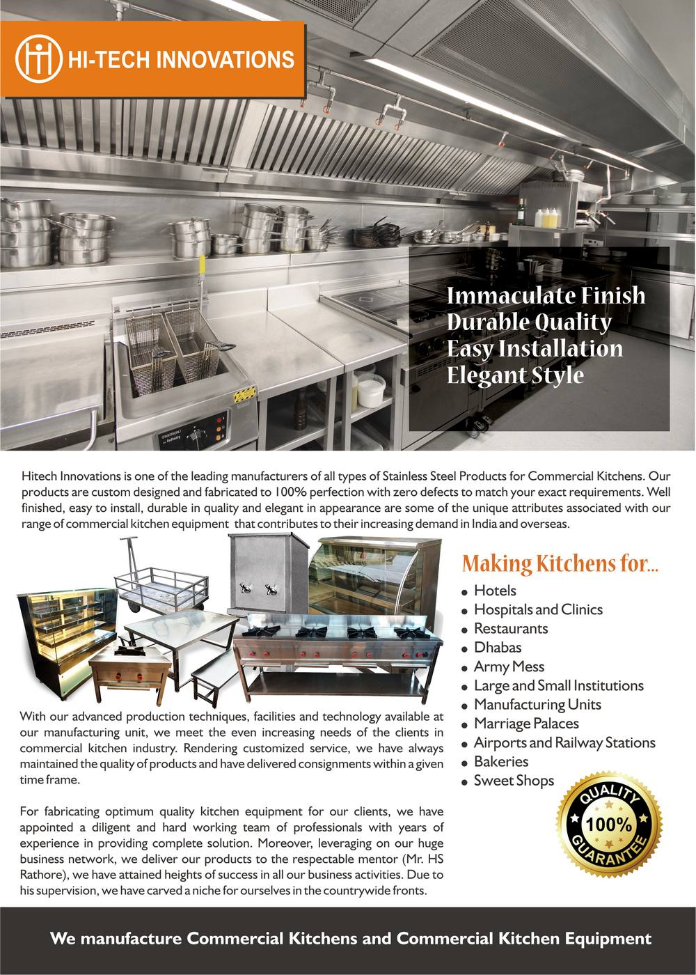 Commercial Kitchen Brochure - Page 1