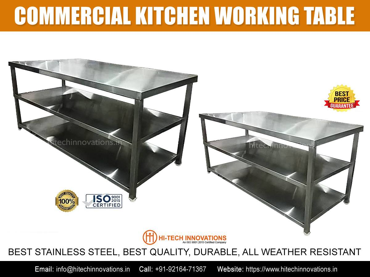 Commercial Kitchen Working Table