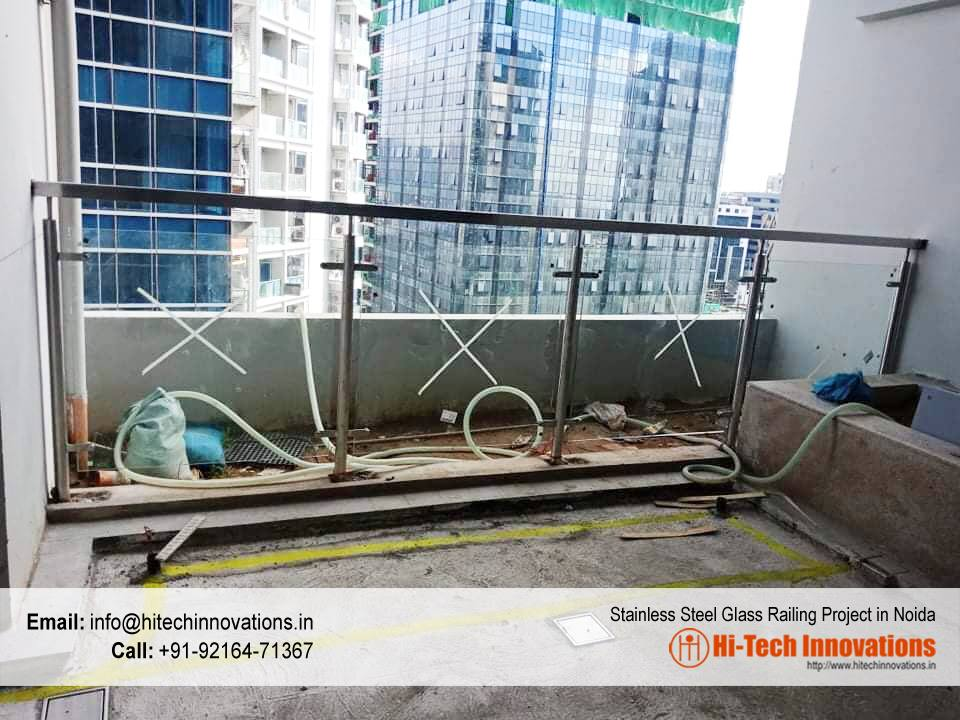 Stainless Steel Glass Railing Project in Noida (UP)