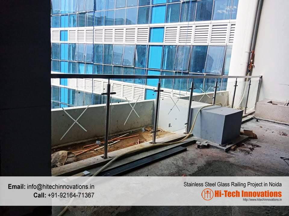 Stainless Steel Glass Railing Project in Noida