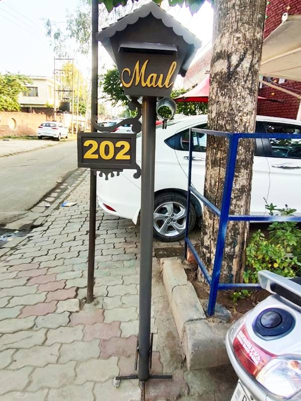 Designer Mail Box Number Plate