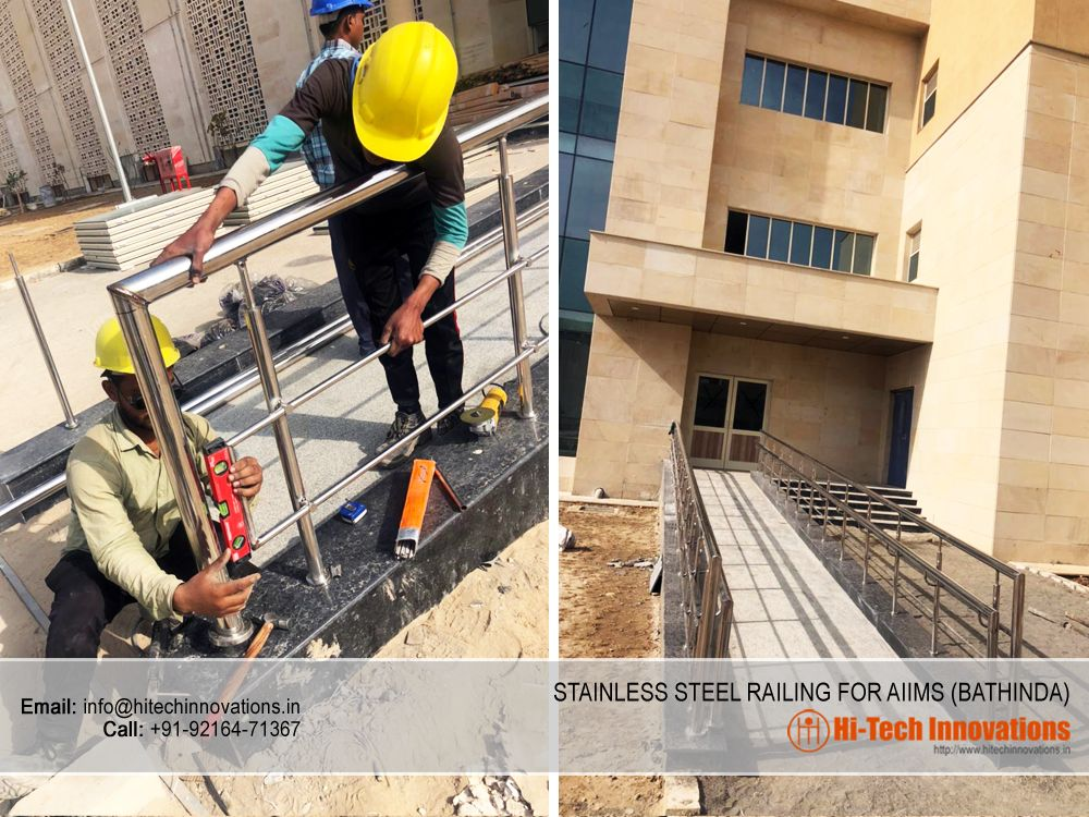 Stainless Steel Railing for AIIMS - Bathinda
