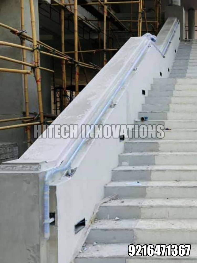 Stainless Steel Railing for Stairs AIIMS Bathinda