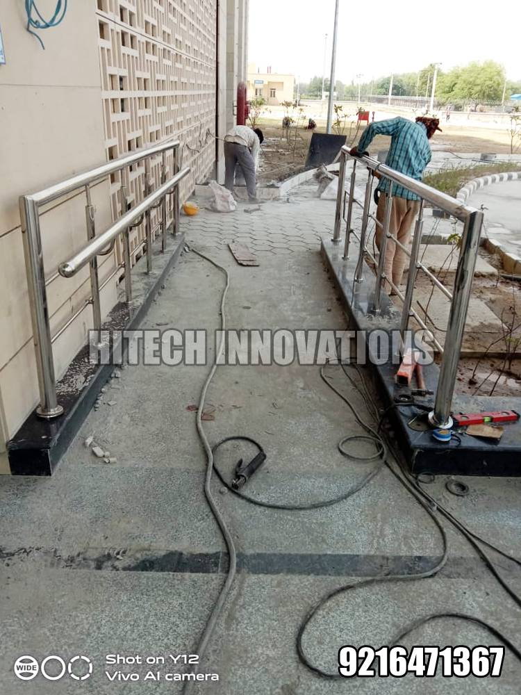 Stainless Steel Ramp Railing for Handicapped Patients