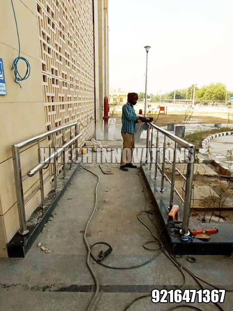 Ramp Railing for Handicapped Patients