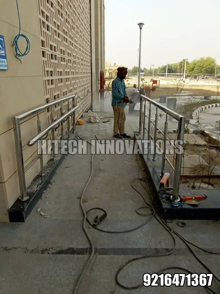 Ramp Railing for Handicapped Patients - AIIMS Bathinda