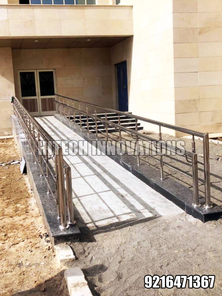 Stainless Steel Ramp Railing for-Handicapped Patients in AIIMS Bathinda