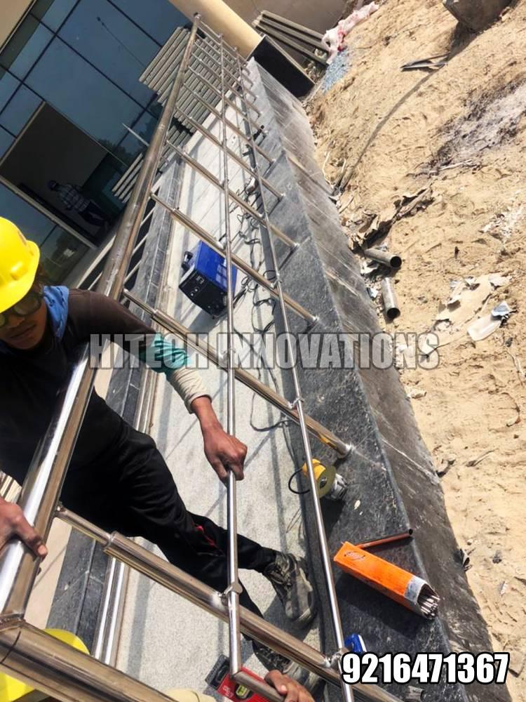 Installing Ramp Railing for Handicapped