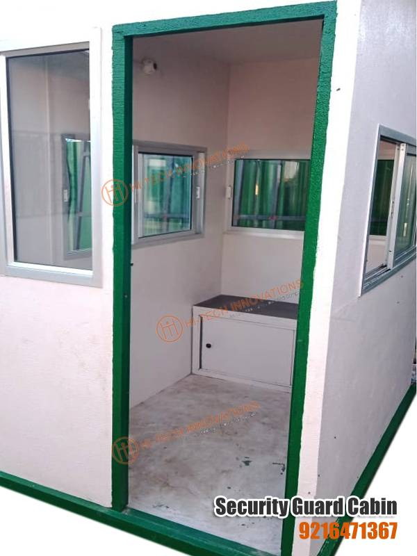 FRP Security Guard Cabin (Inside View)