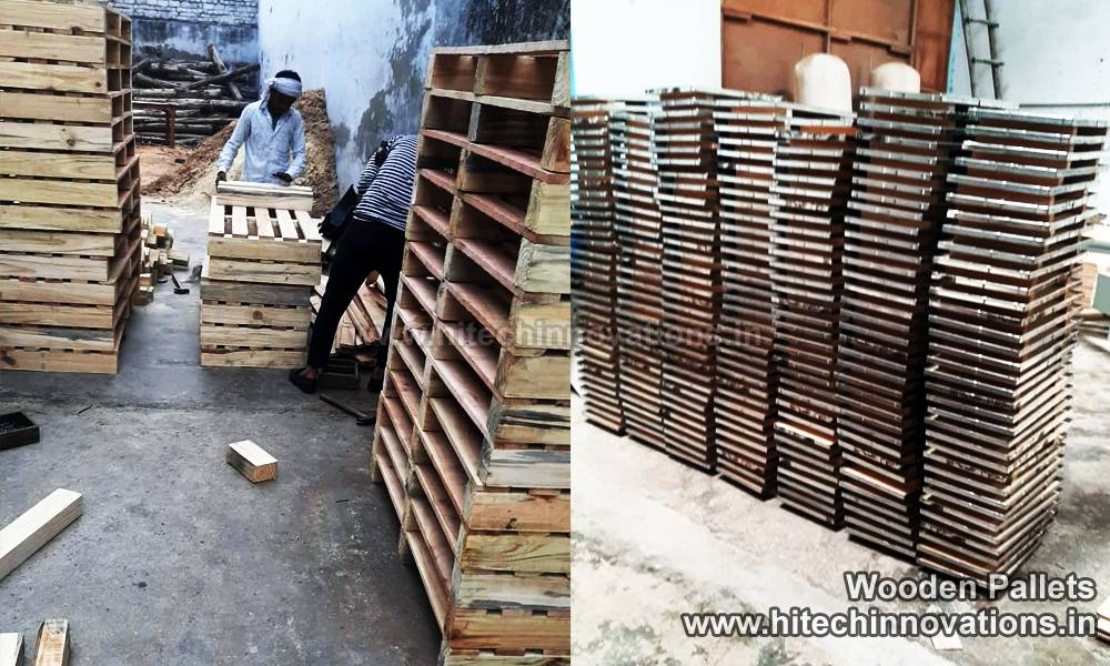 Heat Treated Nail-less Wooden Pallets