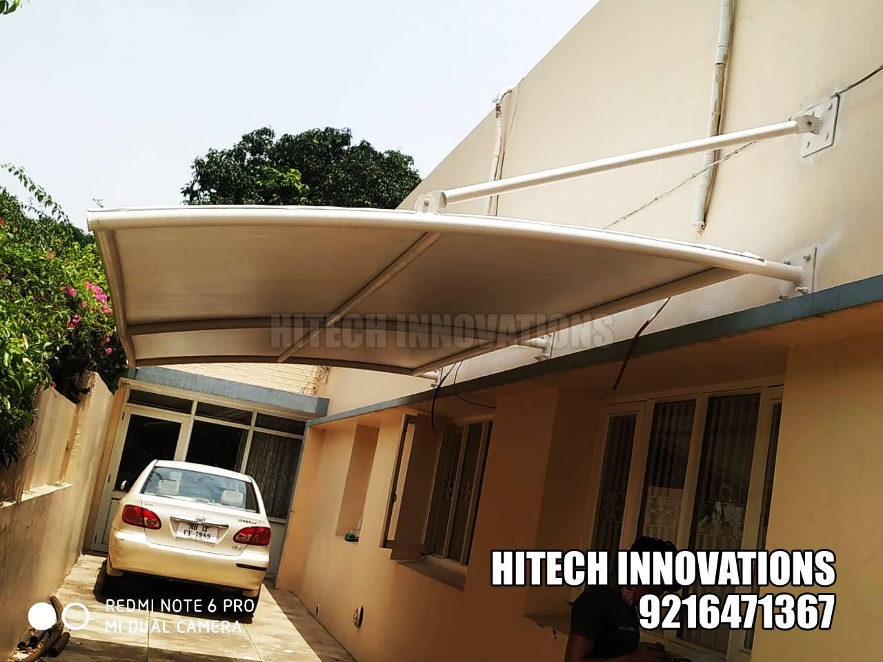 Tensile Structure for Car Parking Shed Completed - Jalandhar