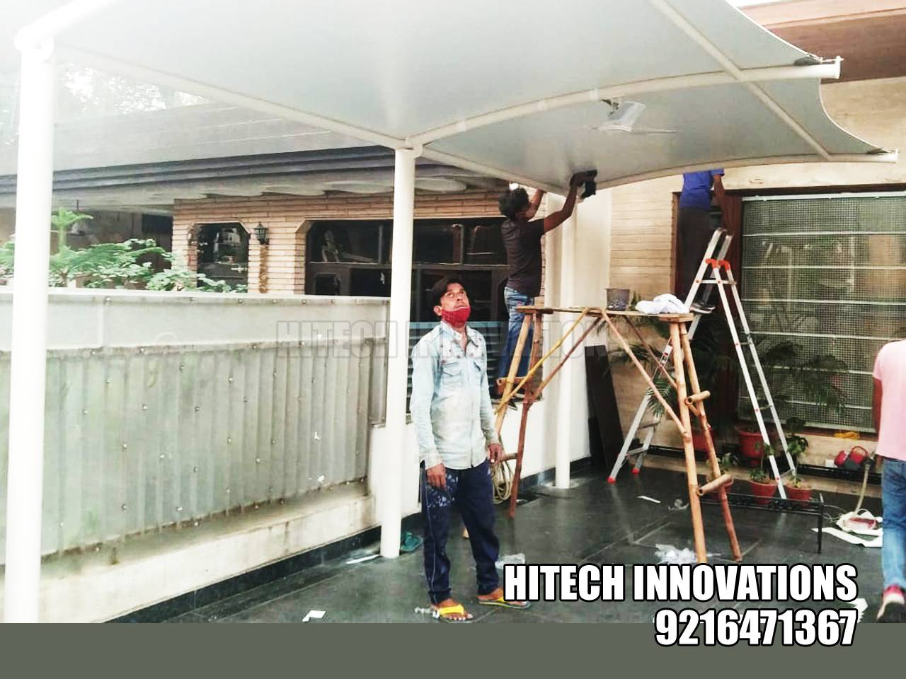 Completing Car Shed in Ludhiana