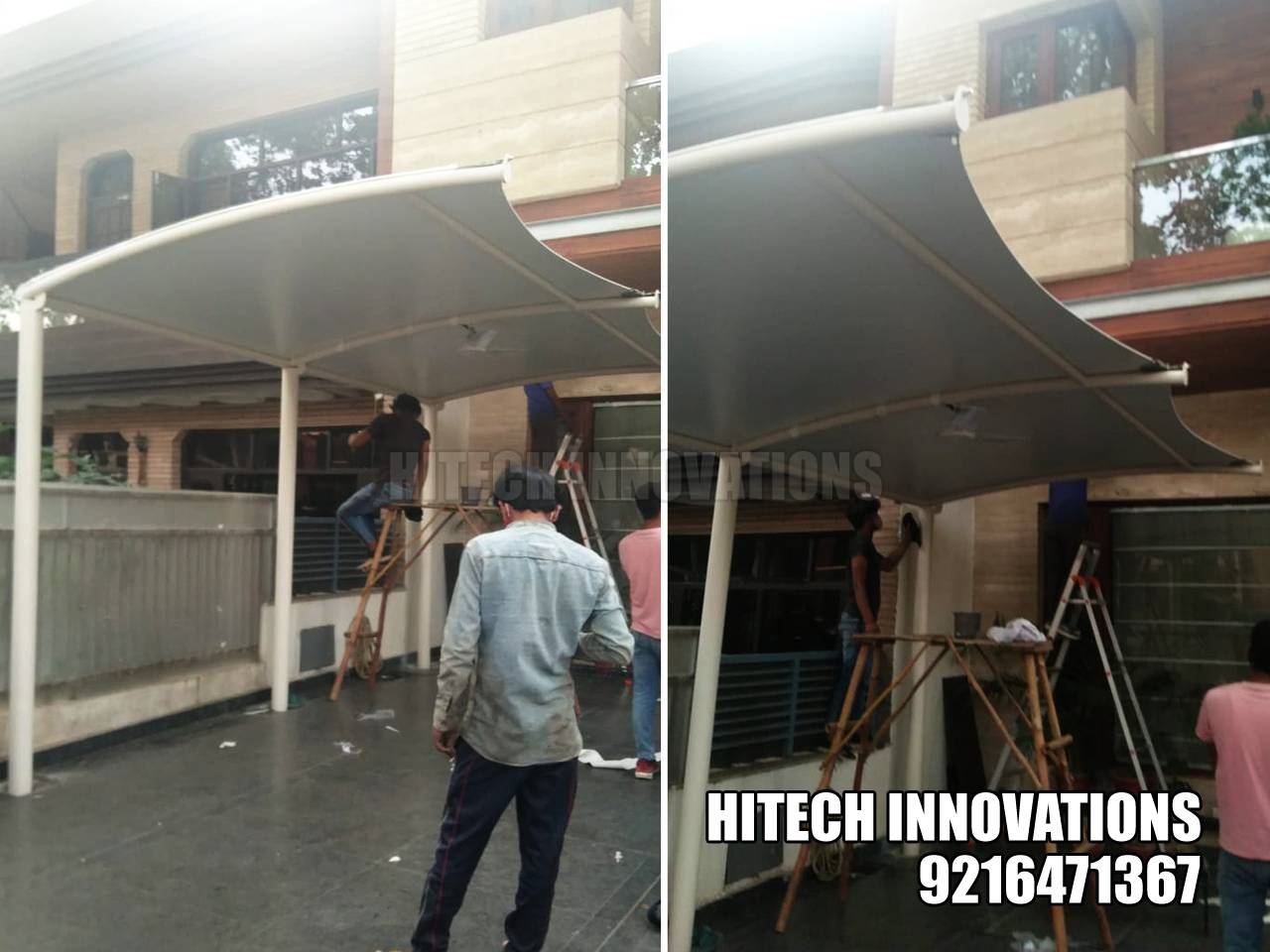 Finalizing Car Shed in Ludhiana