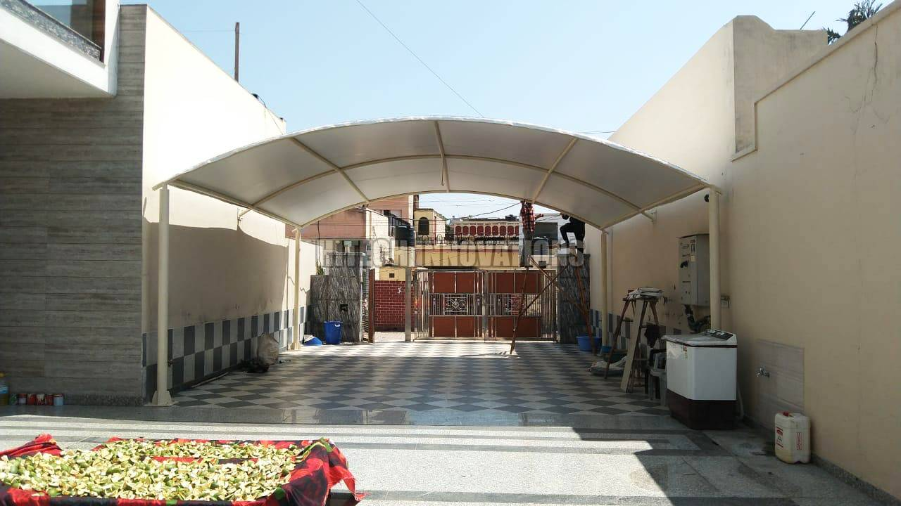 Completed Car Shed Faridkot