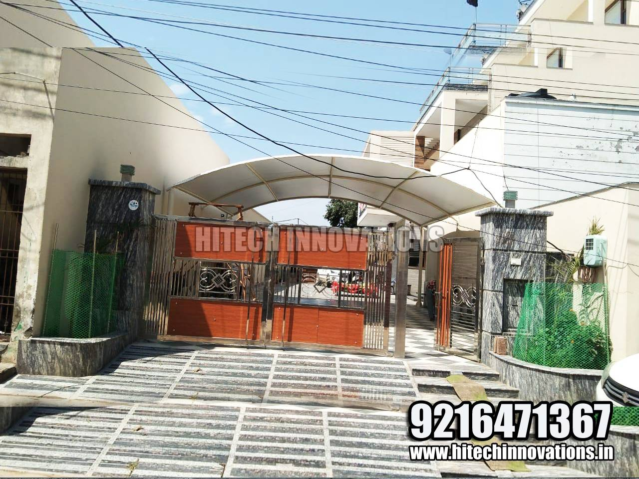 Completed Car Tractor Tensile Shed in Faridkot