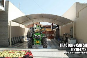 Completed Car Tractor Tensile Shed in Faridkot - 005