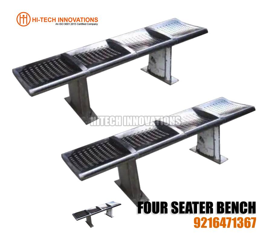 Four Seater Stainless Steel Bench
