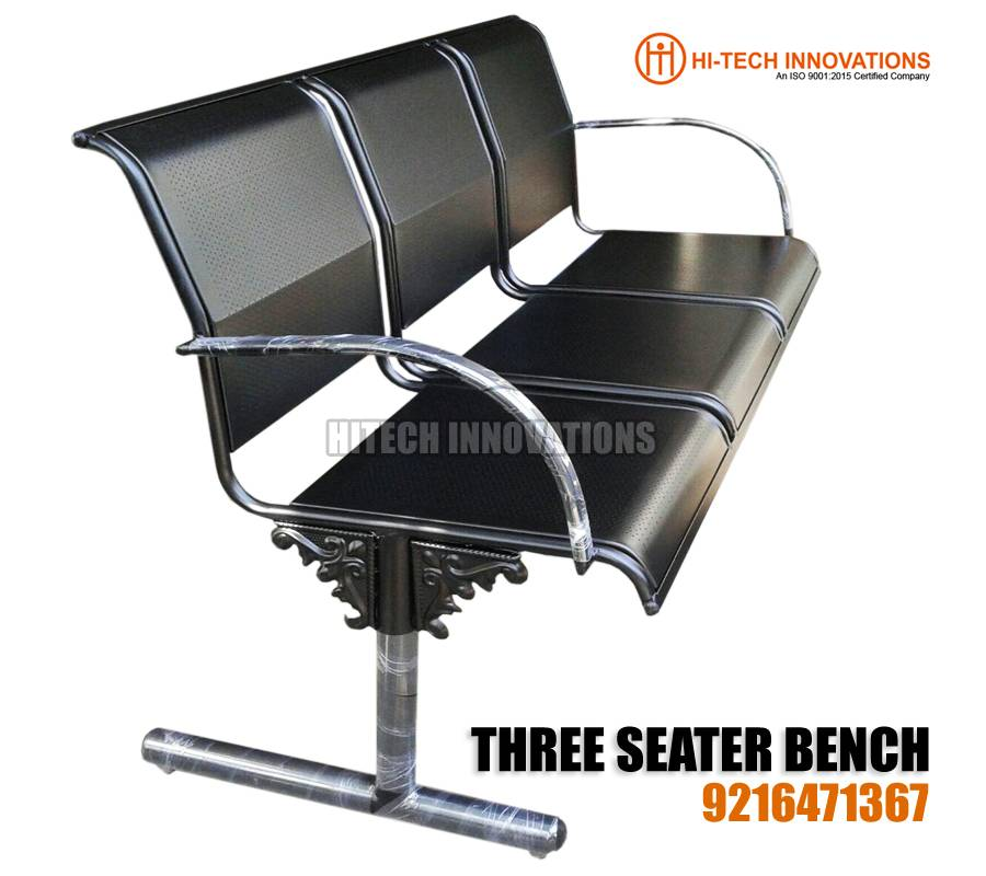 Three Seater Stainless Steel Bench Design 2