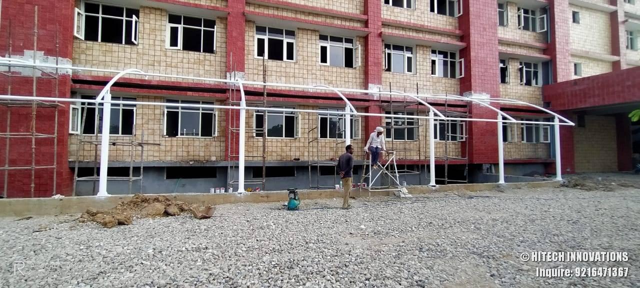 Best Paint Job on Tensile Structure Civil Hospital Ludhiana