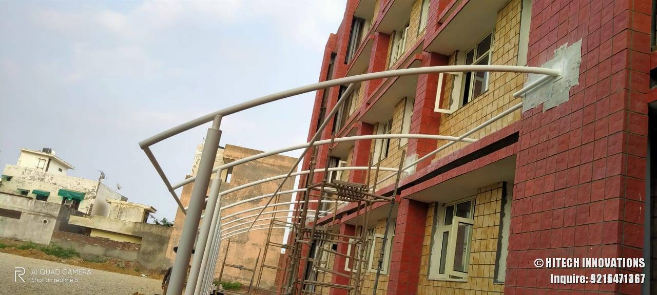 Paintwork on Tensile Structure Civil Hospital Ludhiana